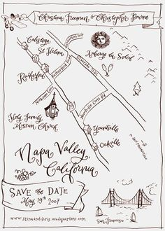 Invitations illustrated Maps by Crystal Kluge