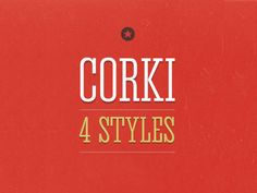 Introducing Corki v.2! Corki is condensed slab serif typeface suitable mostly for headlines.