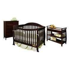 Athena Baby Furniture Allie 3-in-1 Crib Nursery Set