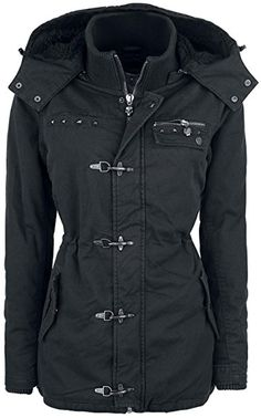 Rock Rebel by EMP Carabiner Jacket Girl-Jacke schwarz S