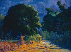 Martín Malharro. En plena naturaleza, ca. 1911  óleo sobre tela- 70 x 100 cm.