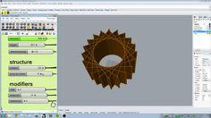 parametric 3d star polygon that generates laser cuttable patterns. Made in rhino/grasshopper