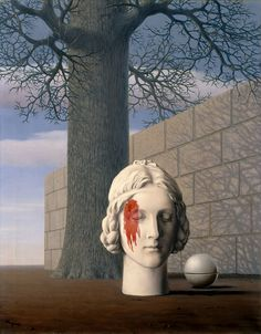 "René Magritte: ""Les Intermittences du Coeur"" (The Fickleness of the oil on canvas, Dimensions: 32 x 25 in. x cm), Wadsworth Atheneum - Hartford, Connecticut. Surrealist Collage, Surrealism Painting, Rene Magritte, Magritte Paintings, Max Ernst, Surreal Art, Artist At Work, Great Artists, Les Oeuvres"