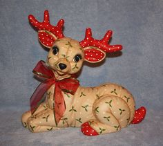 Jumbo Hand Painted Ceramic Christmas by FlutterbyConnections
