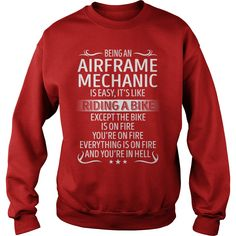 Being an Airframe Mechanic like Riding a Bike Job Title TShirt #gift #ideas #Popular #Everything #Videos #Shop #Animals #pets #Architecture #Art #Cars #motorcycles #Celebrities #DIY #crafts #Design #Education #Entertainment #Food #drink #Gardening #Geek #Hair #beauty #Health #fitness #History #Holidays #events #Home decor #Humor #Illustrations #posters #Kids #parenting #Men #Outdoors #Photography #Products #Quotes #Science #nature #Sports #Tattoos #Technology #Travel #Weddings #Women