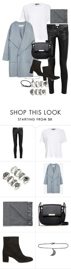 """""""Untitled #1637"""" by sarah-ihab ❤ liked on Polyvore featuring Yves Saint Laurent, rag & bone, Forever 21, Zara, Acne Studios, French Connection, Rebecca Minkoff, ADORNIA and David Yurman"""