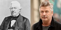 Millard Fillmore (left) – lawyer and US President. Alec Baldwin (right) – time traveller and actor. See http://triviasa.co.za/2014/06/06/famous-time-travellers/