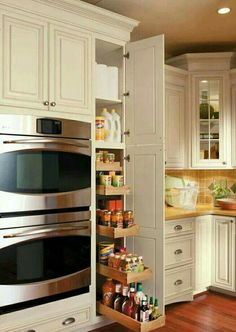 Pull out drawers is nice except my family would have everything in there except condiments.