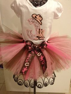 5435e4f3cfd Cowgirl tutu outfit by tutusbyjessica on Etsy