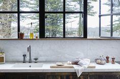 New Kitchen Marble Splashback Stainless Steel 48 Ideas Kitchen Hacks, New Kitchen, Cheap Kitchen, Glass Kitchen, Green Kitchen, Wooden Kitchen, Country Kitchen, Gq, White Kitchen Decor