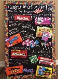 Graduation candy poem