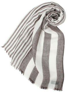 Silk linen scarf / J.Press シルクリネンストライプストール- shopstyle.co.jp