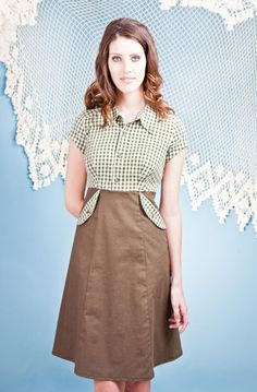 Brenda Shirt Dress by Paper People Clothing