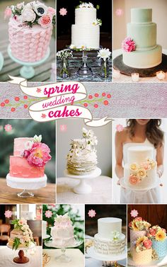 Wondering about your spring wedding cakes? Let our tips and finds guide you with finding that perfect cake!