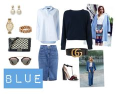 Blue by malinandersson on Polyvore featuring polyvore, fashion, style, Alexander Wang, T By Alexander Wang, Current/Elliott, Gucci, Chanel, STELLA McCARTNEY, MICHAEL Michael Kors, Christian Dior and clothing