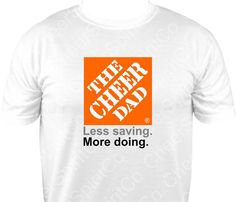 CHEER DAD Cheerleader Cheerleading Logo Cheerleader DAD T-Shirt T-shirt Shirt…