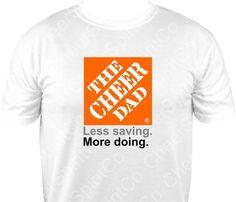 CHEER DAD Cheerleader Cheerleading Logo by CheerSpiritCo on Etsy