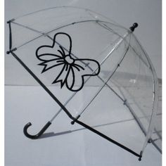 Pluie Pluie Black Bow Bubble Umbrella.  Available @ www.let-it-rain.com