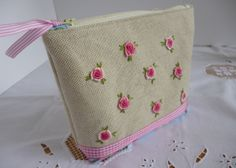 Hand Embroidered Cosmetics Purse
