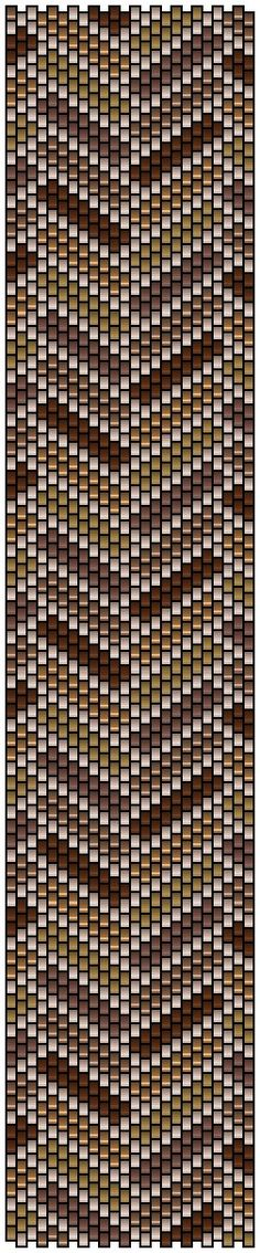 "Grille peyote ""parquet"" by Pencio Peyote Stitch Patterns, Beading Patterns Free, Seed Bead Patterns, Loom Patterns, Jewelry Patterns, Beaded Bracelets Tutorial, Bead Loom Bracelets, Peyote Bracelet, Peyote Beading"