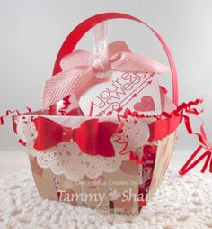 Stampin' Up!'s Berry Basket Bigz Die.  This project is just one of the projects for  Be My Valentine Class!