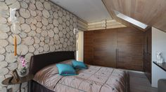 Wooden House - Лучший интерьер квартиры <br>загородного дома | PINWIN - конкурсы для архитекторов, дизайнеров, декораторов Planer, Bed, Room, Furniture, Home Decor, Walls, House, Home Plans, Bedroom