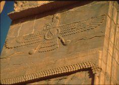 Relief carving of Ahura Mazda at Persepolis.
