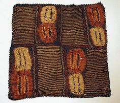 Africa | Ceremonial Panel from the Dida people of southern Ivory Coast | Raffia palm fibre and natural dyes | 20th century