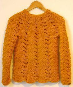 Sweater med russisk hulmønster. Sweater med flot og nemt hulmønster. Der bruges kun 400 g garn, og der er både diagrammer og tekst. Her strikket i akryl og uld, men andet kan bruges. Pinde 4. Knitting Designs, Knitting Patterns Free, Lace Knitting, Knit Crochet, Knitting For Beginners, Cardigans, Sweaters, Uld, Knitwear