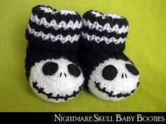 jack skellington baby booties by janet jameson