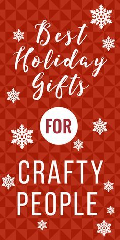 AWESOME list of best gifts for crafters! Whether you are a crafter who needs ideas of what to ask for or you are shopping for a loved one who is obsessed with crafting, this list will help!