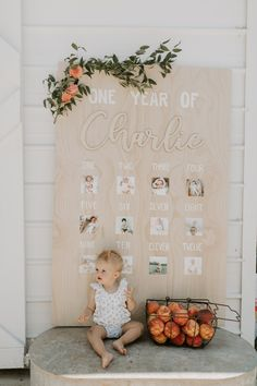 We celebrated Charlotte's first birthday by throwing her a sweet peach party! 1st Birthday Party For Girls, One Year Birthday, First Birthday Themes, First Birthday Decorations, 1 Year Birthday Party Ideas, Baby Boy Birthday Decoration, First Birthday Balloons, Birthday Photos, Birthday Party Invitations