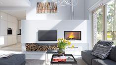 Dostępny 4A - DOMY Z WIZJĄ House Extension Design, Extension Designs, House Design, Norwegian House, House Extensions, Design Case, House Plans, How To Plan, Interior Design
