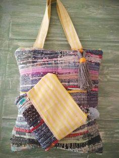 Handmade kourelou shoulder bag and zipper pouch - PelysHappyThings