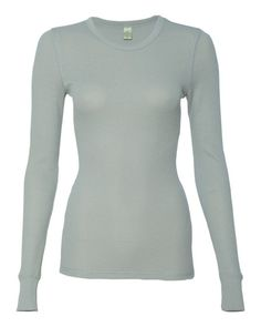 Alternative Grey Ladies Long Sleeve Thermal - 5106 (FREE SHIPPING)