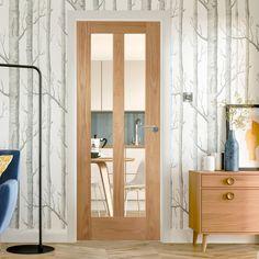 Bespoke Novara Oak Glazed Door.  #internaldoor #madetomeasuredoor #bespokedoor