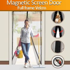 The 10 Best Magnetic Screen Doors In 2019 Mesh Screen Door, Magnetic Screen Door, Screen Doors, Screen Time For Kids, Porch Interior, Patio Privacy Screen, Screened In Deck, Japanese Screen, Room Additions