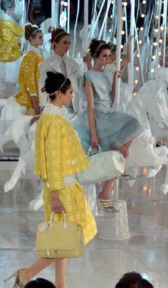 Louis Vuitton 2012 fashion show... on a carousel