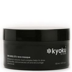 Top Masks......Kyoku exclusive mineral-rich Volcanic Mud complex combines Volcanic Mud, Volcanic Black Sand, Volcanic Ash and 73 essential sea Minerals straight from Japanese coastlines into one essential product the Kyoku for Men Lava Masque. [Click PICTURE to view site]