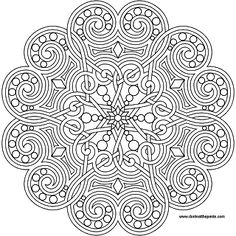 A heart mandala to print and color- also available in jpg format