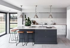 Excellent modern kitchen room are offered on our web pages. Check it out and you wont be sorry you did. Open Plan Kitchen Dining Living, Living Room Kitchen, Home Decor Kitchen, Home Kitchens, Kitchen Ideas, Remodeled Kitchens, Rustic Kitchen, Kitchen Modern, Kitchen Island Ideas Uk