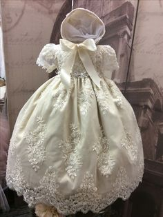 90eb23e48 Baptism Gown, Christening Gowns, Crochet Baby Clothes, Toddler Dress, Ale,  Cute