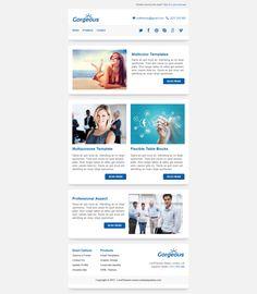 Responsive Email Template Design PSD To MailChimp Pinterest - Mailchimp template variables