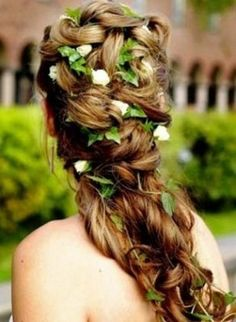 bridal hairstyles with braids and flowers - Bing Images