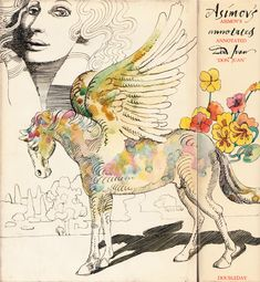"Illustrations by Milton Glaser of Lord Byron's epic poem ""Don Juan,"" annotated by Isaac Asimov. Doubleday, 1972 
