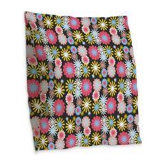 Retro Floral Pattern Burlap Throw Pillow