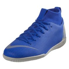 purchase cheap 31dfe 1304a Nike Junior Mercurial Superfly X VI Academy IC Indoor Soccer Shoe Racer Blue Metallic  Silver Black Volt-1