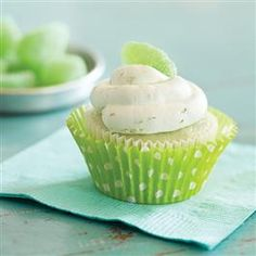 Key Lime Cupcakes with Whipped Cream Frosting