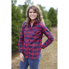 Christmas Gone Plaid Top- Red