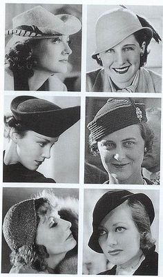 "Hats, 1930s | ""Greta Garbo was the Hollywood star who h… 
